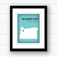 Interesting facts about Oregon: 1. Theyre the only state to have a state flat featuring two different designs. 2. It has the most ghost towns of all fifty states 3. It doesnt have self-serve gas stations. Thats right, full service only  And, most importantly, it has some of the nicest people in the whole United States!  _________________________________________________________ GIMME ALL THE DETAILS:  —Print measures 11x14 and has a small white border all around for easy framing!  Please let…