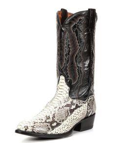 18735c81fb7 Dan Post Natural Omaha Python Cowboy Boots - Medium Toe