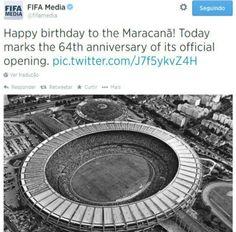 Maracanã completa 64 anos e ganha parabéns da Fifa (Foto: Reprodução)