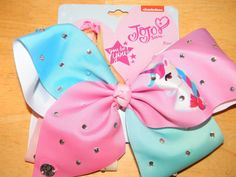 "MINNIE MOUSE Large Hair Bow Clip Big 8"" 8 Inch Jojo Disney Mickey Love Heart"