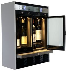 Side view wine dispenser - dual climate zone