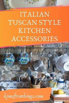 Tuscan style decorating ideas for your kitchen. Tuscan decorating on a budget. Tuscan kitchen decor ideas including kitchen rugs and wall decor. Tuscany Kitchen, Italian Kitchen Decor, Farmhouse Kitchen Decor, Interior Modern, Home Interior, Kitchen Interior, Interior Ideas, Cheap Bedroom Decor, Cheap Beach Decor
