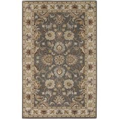 Surya CAE1005-912 Caesar 9' x 12' Rectangle Wool Hand Tufted Traditional Area Ru - gray