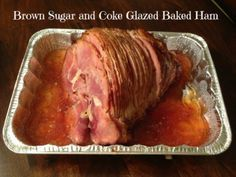 This Brown Sugar and Coke Glazed Baked Ham is perfect for Easter Brunch, Thanksgiving Dinner, Christmas Dinner, or any special occasion. It's also great for potluck meals or dropping off when our PTO feeds the Teachers before Parent/Teacher Conference nig Coke Recipes, Cooking Recipes, Baked Ham Recipes, Sausage Recipes, Turkey Recipes, Ham Recipe With Coke, Coke Ham Glaze Recipe, Heavenly Ham Glaze Recipe, Ham In Coke