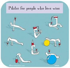 Pilates for people who love wine.