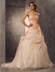 Abito da sposa Trapezio/Stile Principessa CON A cuore Strascico di corte (Organza) - EUR € 179.99