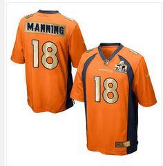 nike broncos 18 peyton manning orange team color mens stitched nfl game super bowl 50 · nfl jerseys