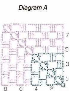 Бабушкин квадрат от угла