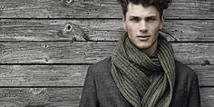 Moda pra homens - Looks masculinos com echarpes e cachecol