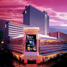 Eldorado Hotel and Casino (345 North Virginia Street) This Reno hotel is located at the Eldorado Casino. The hotel features 9 unique and award winning restaurants, a free airport shuttle, and a 81,000 sq. foot casino. #bestworldhotels #travel #us #reno