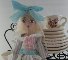 ALICE, porcelain jointed puppet doll from Wonderland, handmade in the USA