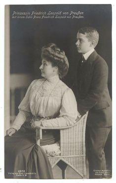Princess Friedrich Leopold of Prussia with Sound Prince Friedrich of Prussia Princess Anna, Prince And Princess, Maud Of Wales, Royal House, Prussia, Old Postcards, Duke And Duchess, Royals, Germany