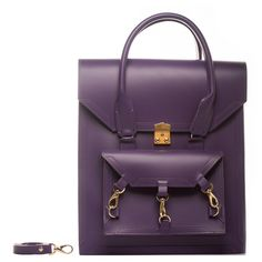 Tomas Brilliance - Purple Pelham Bag (€470) ❤ liked on Polyvore featuring bags, handbags, tote bags, leather purses, hand bags, leather tote bags, tote handbags and purse tote