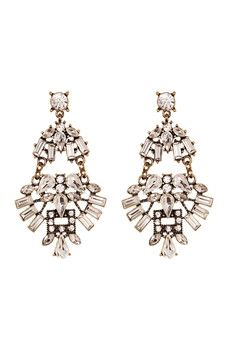 Spring Street - Crystal Stone Drama Drop Earrings
