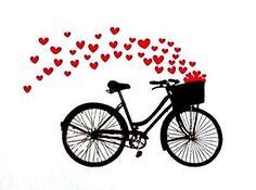 bici cuori amore nell'aria san valentino