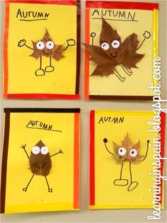 Diy fall crafts 566116615661270978 - These are so cute- could add a writing piece too – describe your leaf person! Kids Crafts, Leaf Crafts, Fall Crafts For Kids, Toddler Crafts, Art For Kids, Fall Activities For Kids, Party Crafts, Autumn Art, Autumn Theme