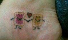 Best friend tattoos :) Angles ketchup and mustard Taco Tattoos, Bff Tattoos, Best Friend Tattoos, Body Art Tattoos, I Tattoo, Cool Tattoos, Tatoos, Bestie Tattoo, Tattoo Addiction