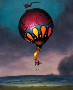 EOTD inspired by Circa Survive/Esao Andrews On Letting Go album art Circa Survive, Tattoo Henna, Around The World In 80 Days, Ouvrages D'art, Pop Surrealism, Surreal Art, Hot Air Balloon, Amazing Art, Fantasy Art