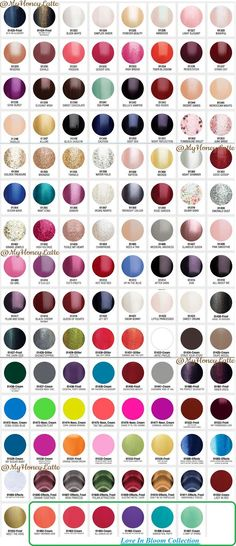 #Gelish #gel #manicure - Gelish color swatches