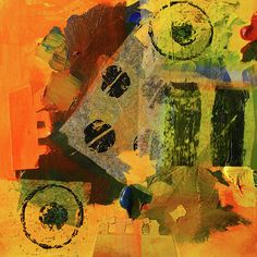 Collage No. 10 Abstract Art Prints and Posters by Nancy Merkle