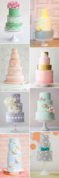 colourful wedding cakes | www.onefabday.com