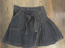 Image result for denim wrap skirt