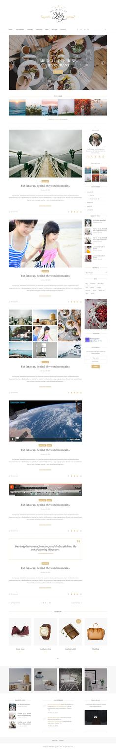Lily and Elegant Premium Blog HTML Template Download Now #responsive #blogs…