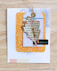 Happy Scrappy Friends | Project Life card challenge // handmade fall card by @pixnglue