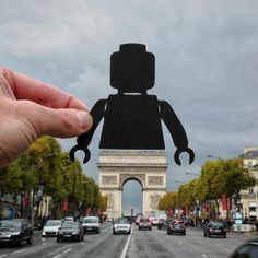 "Big lego handed round of applause to @paperboyo for this stroke of genius 👏👏👏 ・・・ 'Sometimes I'll have an idea for a photo but when I go to shoot it, the idea doesn't translate on camera. I thought this might be one of those occasions but back in Autumn, standing in the middle of the Champs-Élysées with my eye to the viewfinder, I realised it did work. So the moral of the story is ""Always give it a go"", or maybe it's ""Don't stand in the middle of Parisian traffic, unless you have a…"