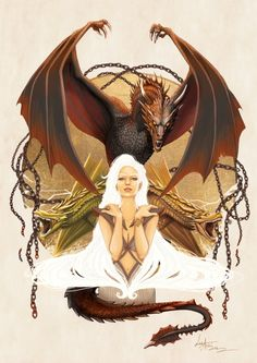 Amazing Illustration of Daenerys Targaryen Based... | Game of Thrones Fan Art