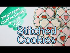 ▶ How to make a stitched cookie - Step-by-step cookie decorating - YouTube