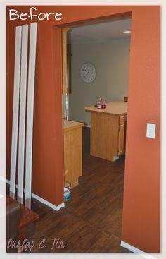 Burlap & Tin: New Doorways Say HELLO! How to frame in an interior doorway.