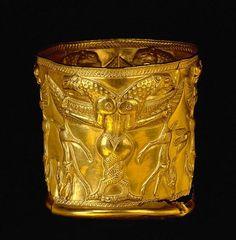 Two headed Dragon Cup, Iran, Jam-e-Marlik, 1000 BC.