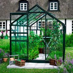 Juliana Gewächshaus Popular 86 (2,57 x 1,93 x 1,95 m, Blankglas, Glasstärke: 3 mm, Grün)