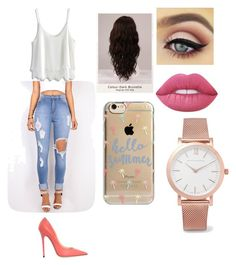 mall outfit by saraiwilliams-sock on Polyvore featuring polyvore fashion style Chicwish Jimmy Choo Larsson & Jennings Agent 18 Lime Crime WigYouUp clothing