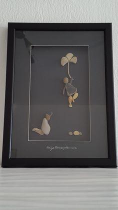 No:67 Üç Yapraklı Yonca by Nebiye Karataş Marmara. Pebble Art.