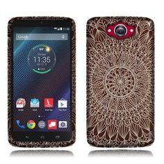 Amazon.com: Fincibo (TM) Motorola Droid Turbo XT1254 Silicone TPU Skin Gel Soft Protector Cover Case - Wooden Mandala: Cell Phones & Accessories