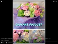 Cake Decorating, Bouquet, Cakes, Rose, Birthday, Happy, Pink, Birthdays, Bouquets