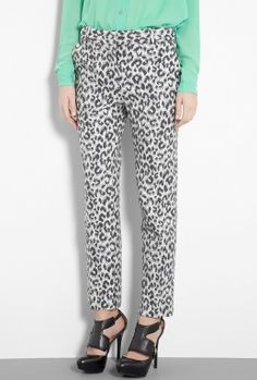 """3.1 Phillip Lim Leopard Woven Cigarette Pant. Caroline: """"I'm loving a printed pant right now – they make it so easy to get dressed as you don't have to think about your top half, just put on a simple sweater or blouse and let your legs do all the talking""""."""