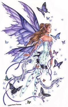 fairy :: butterflies purple image by tharens - Photobucket