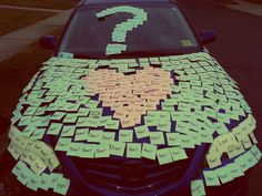 YES YES YES YES YES YES @amandam2015 THIS WOULD BE PERFECT TO DO! Wanted to sticky note a car anyways!!!