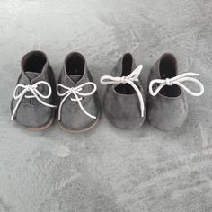 "sweet grey baby shoes for boys and girls: ""Mon Marcel Schoentjes"" 