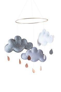 Designstuff offers a range of Scandinavian nursery items including this stunning Danish designed cloud mobile by Konges Slojd.