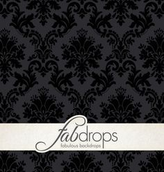 Midnight Damask  Floral Damask Photography Backdrop by FabDrops