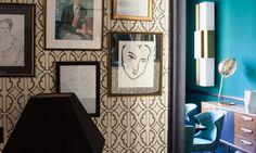 Murs chargés d'histoires et contrastes colorés chez Anne-Sophie Pailleret