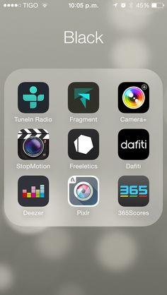 iOS iphone apple Black