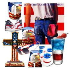 """""""usa"""" by kitchqueen on Polyvore featuring Jim Shore and Converse"""