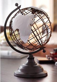 Dekoobjekt, Home affaire, Globe Vintage, Vintage Metal, Old Globe, 3d Home, Fancy Houses, Hamptons House, Globe Lights, Industrial Style, Industrial Design