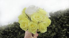 Yellow bridesmaids bouquet wedding flowers by moniaflowers on Etsy