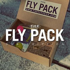 Subscription fly fishing box filled with hand tied flies and gear! Subscribe at www.theflypack.com
